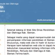 Project: Dinas Pendidikan Kabupaten Sleman Yogyakarta
